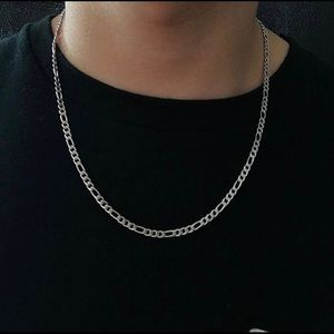 Other - Silver Figaro Chain 22/24 Inches 4mm Wide
